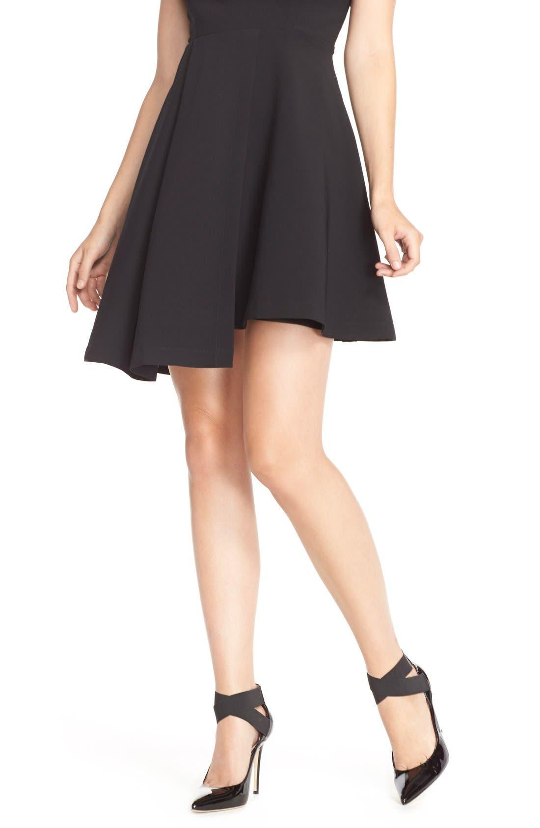 Alternate Image 5  - Adelyn Rae Asymmetrical Fit & Flare Dress
