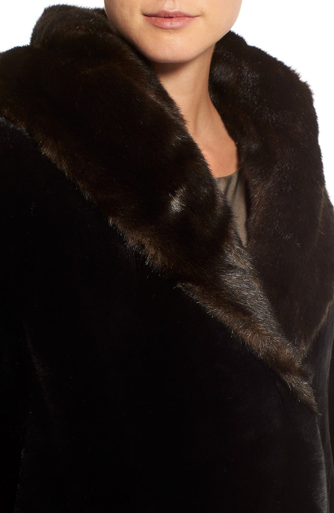 Alternate Image 4  - Gallery Hooded Full-Length Faux Fur Coat