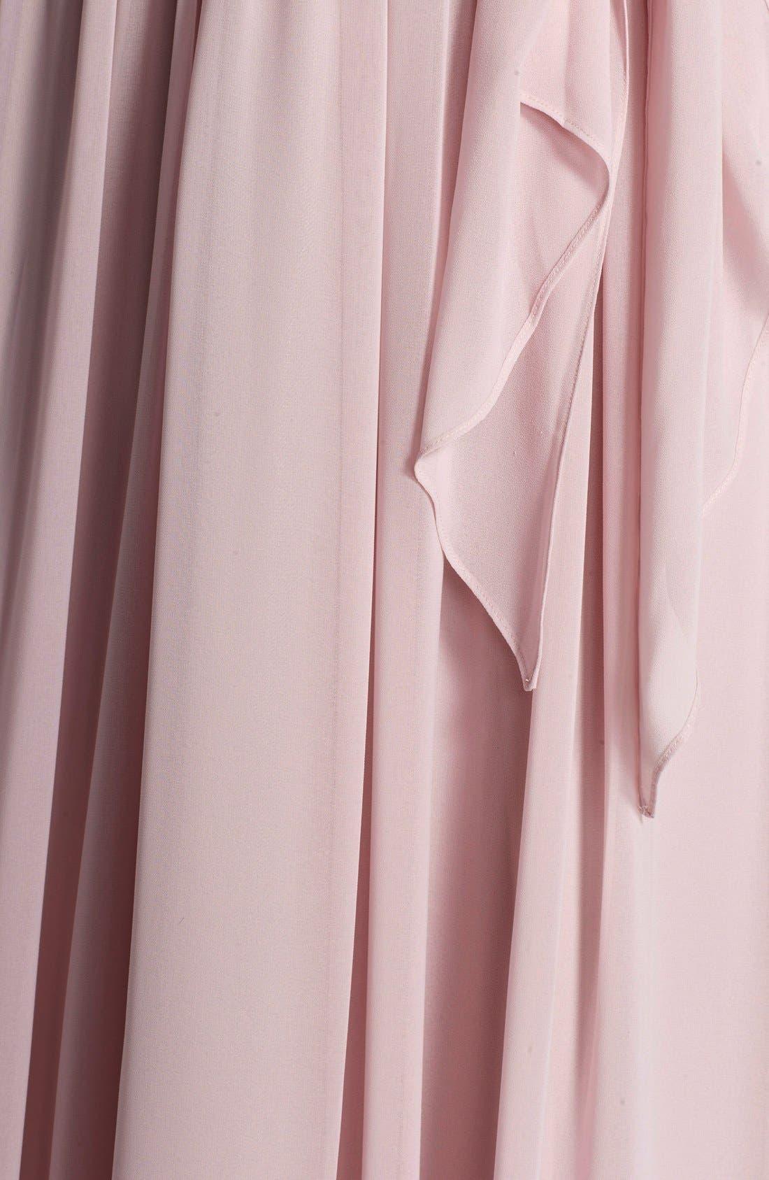 Alternate Image 3  - Donna Morgan 'Alana' Chiffon Halter Style Gown