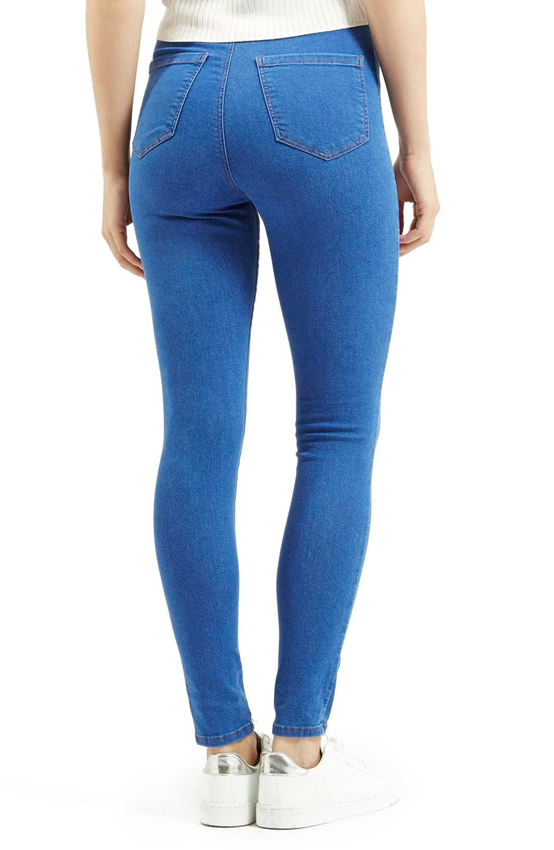 Alternate Image 2  - Topshop Moto 'Joni' High Rise Skinny Jeans (Short)