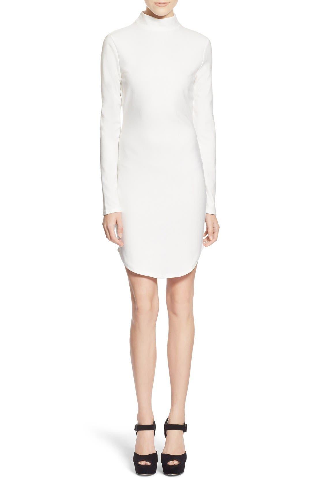 Alternate Image 1 Selected - MissguidedMock NeckSheath Dress