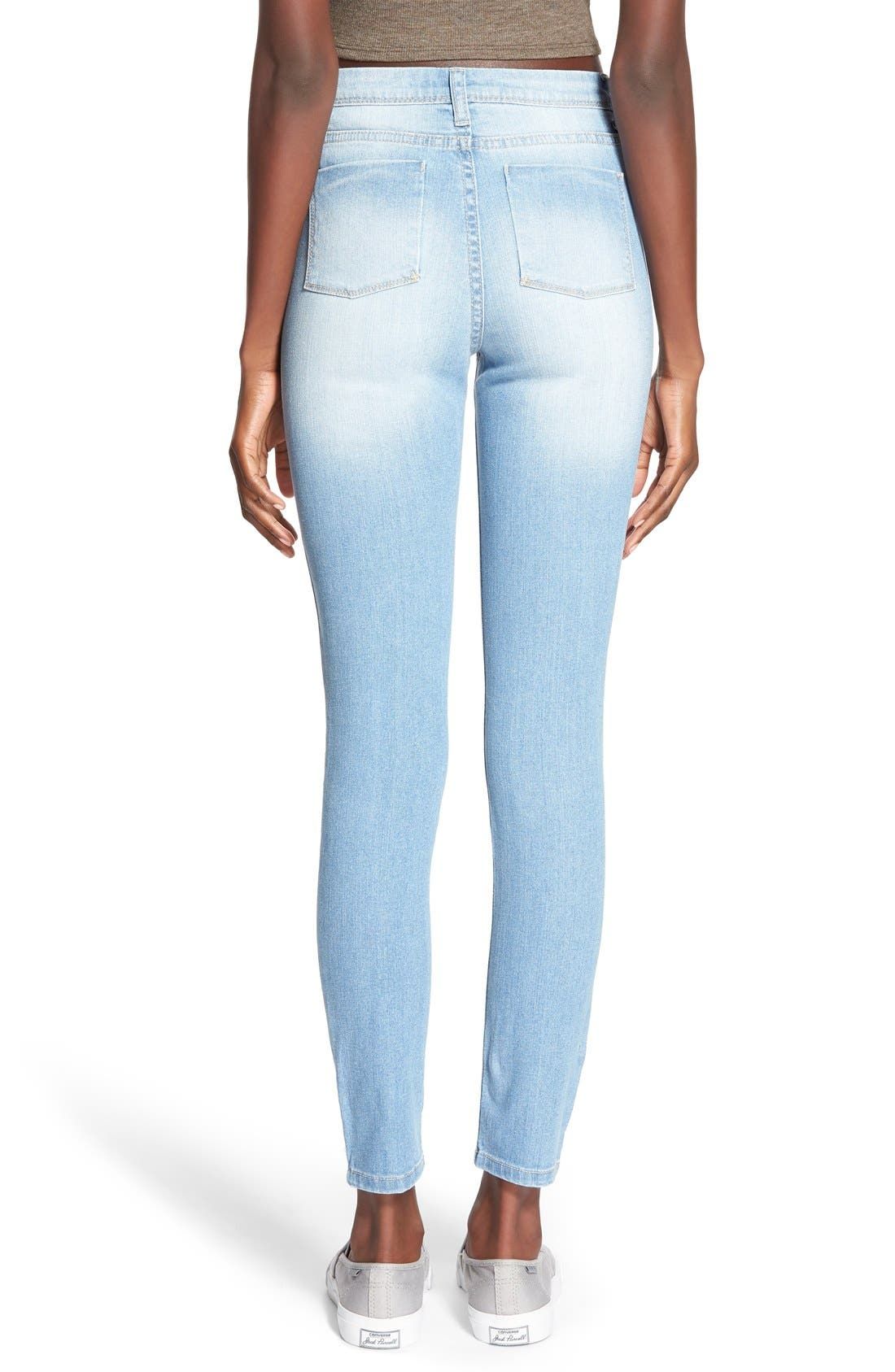 Alternate Image 2  - Generra High Waist Skinny Jeans (70s Blue)