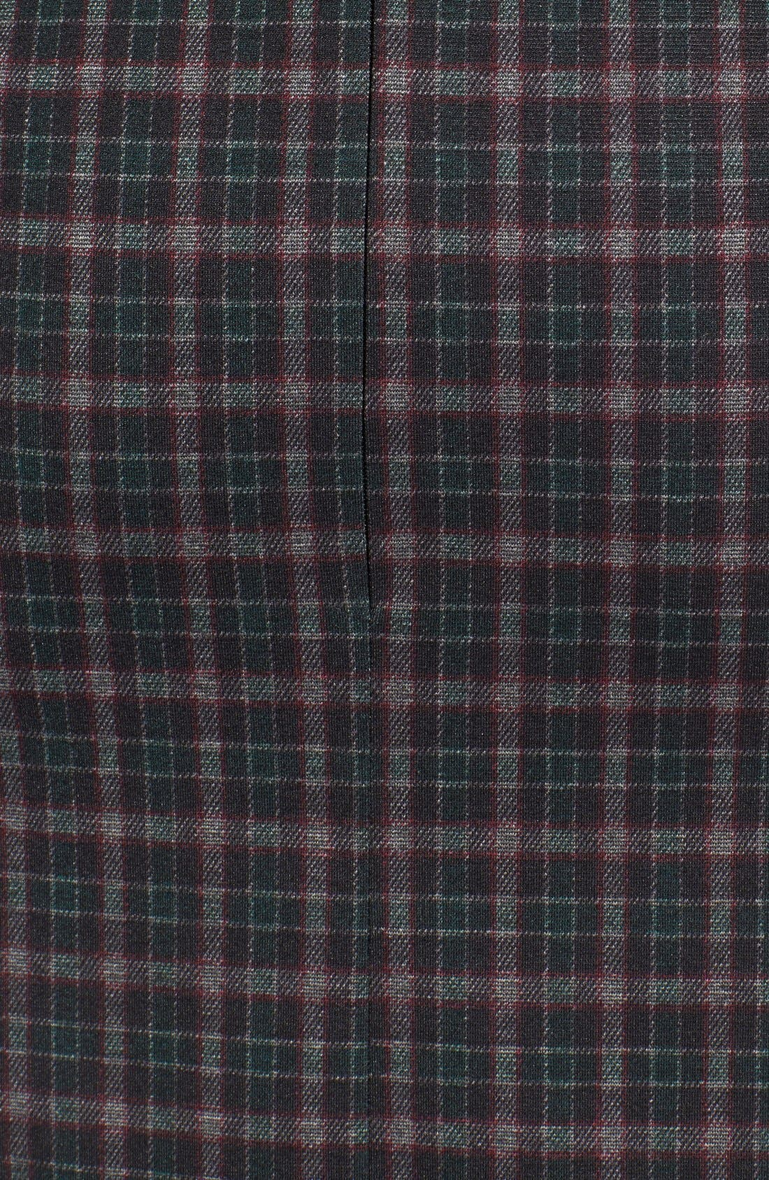 Alternate Image 5  - Fire Asymmetrical Hem Plaid Skirt