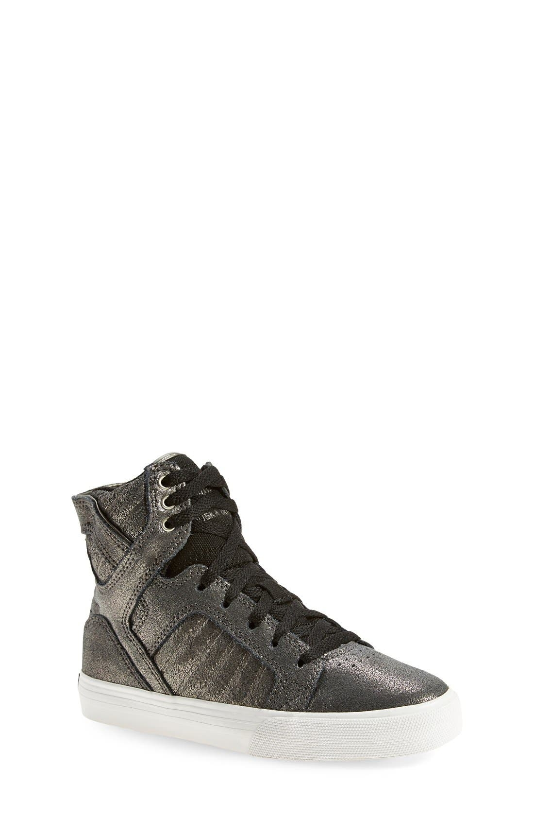 Alternate Image 1 Selected - Supra 'Skytop' High Top Sneaker (Toddler, Little Kid & Big Kid)