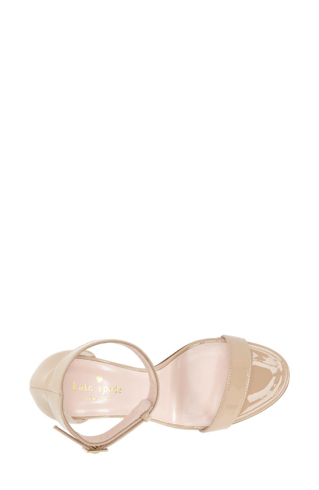 Alternate Image 3  - kate spade new york 'isa' ankle strap sandal (Women)
