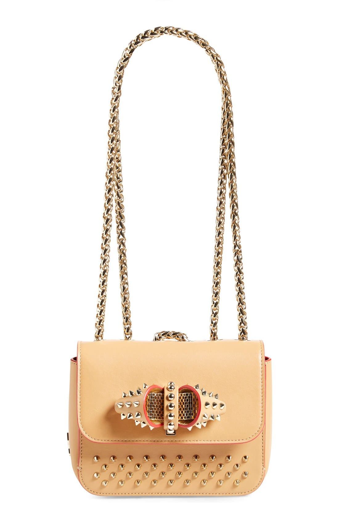 Alternate Image 1 Selected - Christian Louboutin 'Sweet Charity' Spike Calfskin Shoulder Bag