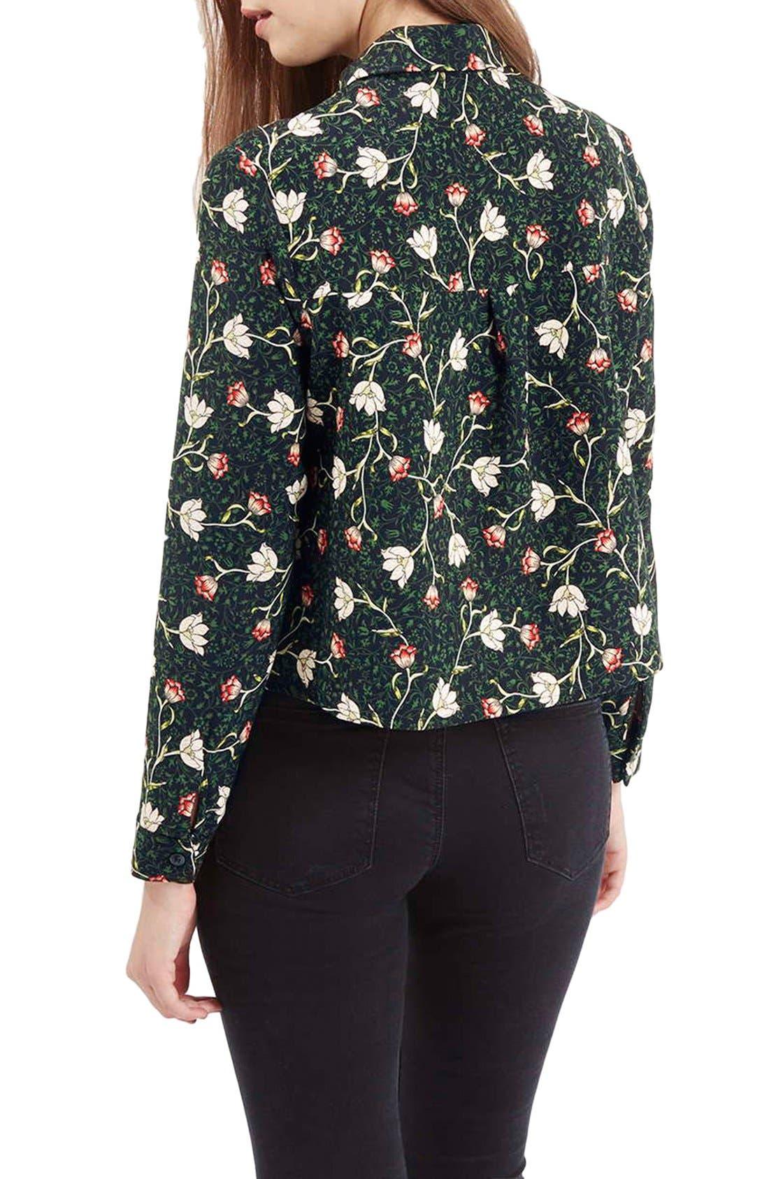 Alternate Image 3  - Topshop Floral Print Boxy Shirt