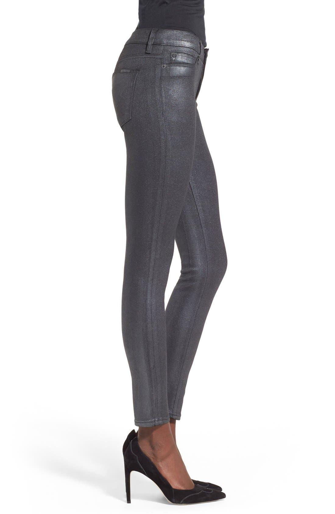 Alternate Image 3  - HudsonJeans Coated Super Skinny Jeans