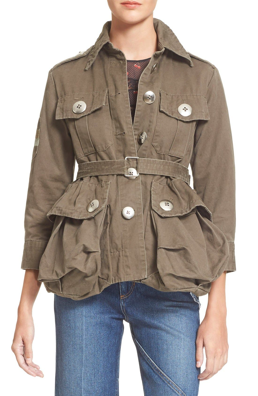 Alternate Image 1 Selected - MARC BY MARC JACOBS Cotton Twill Military Jacket
