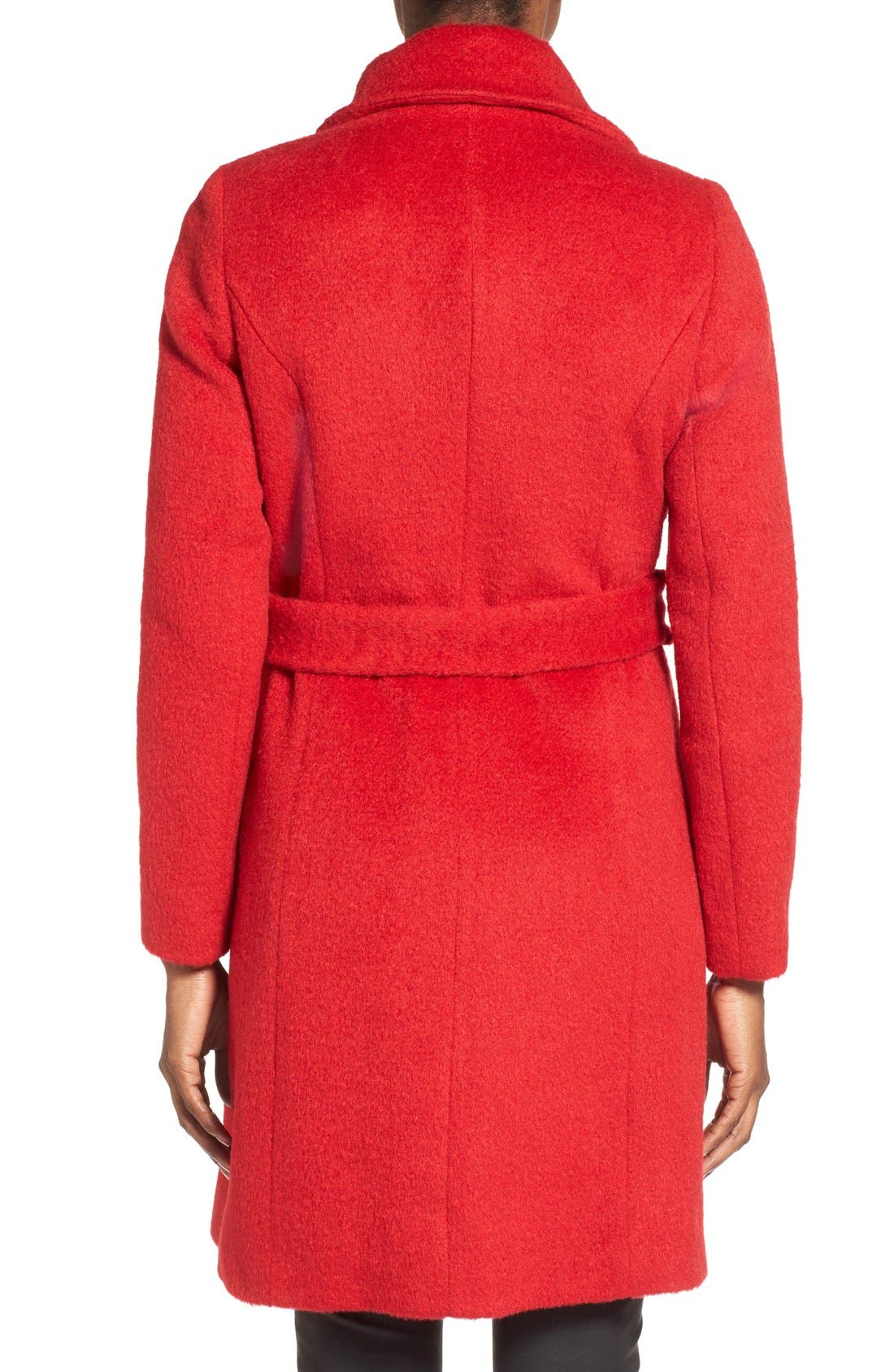 Alternate Image 2  - T Tahari 'Mia' Brushed Wool Blend Wrap Coat