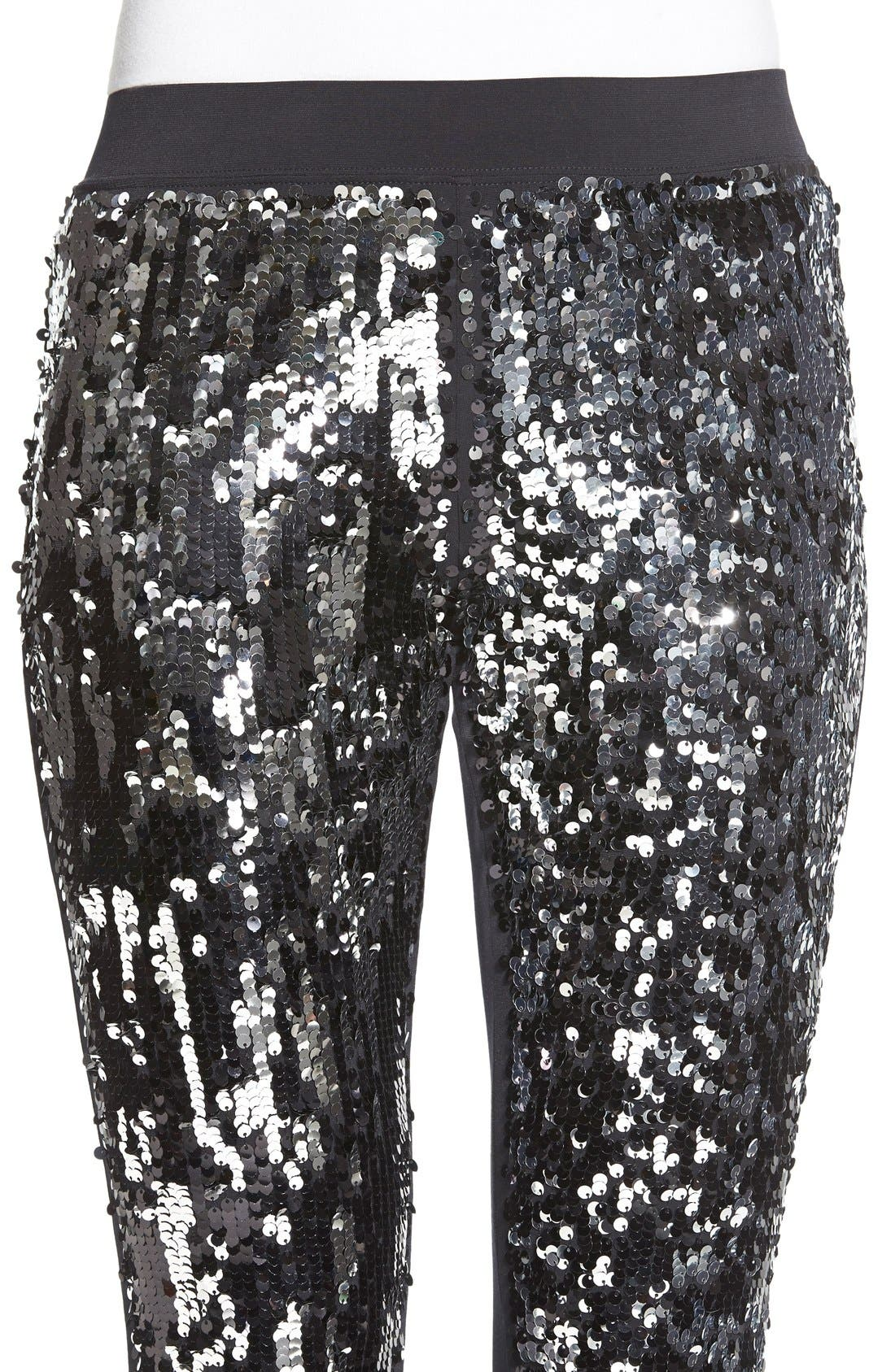Alternate Image 4  - Nordstrom Sequin Front Leggings