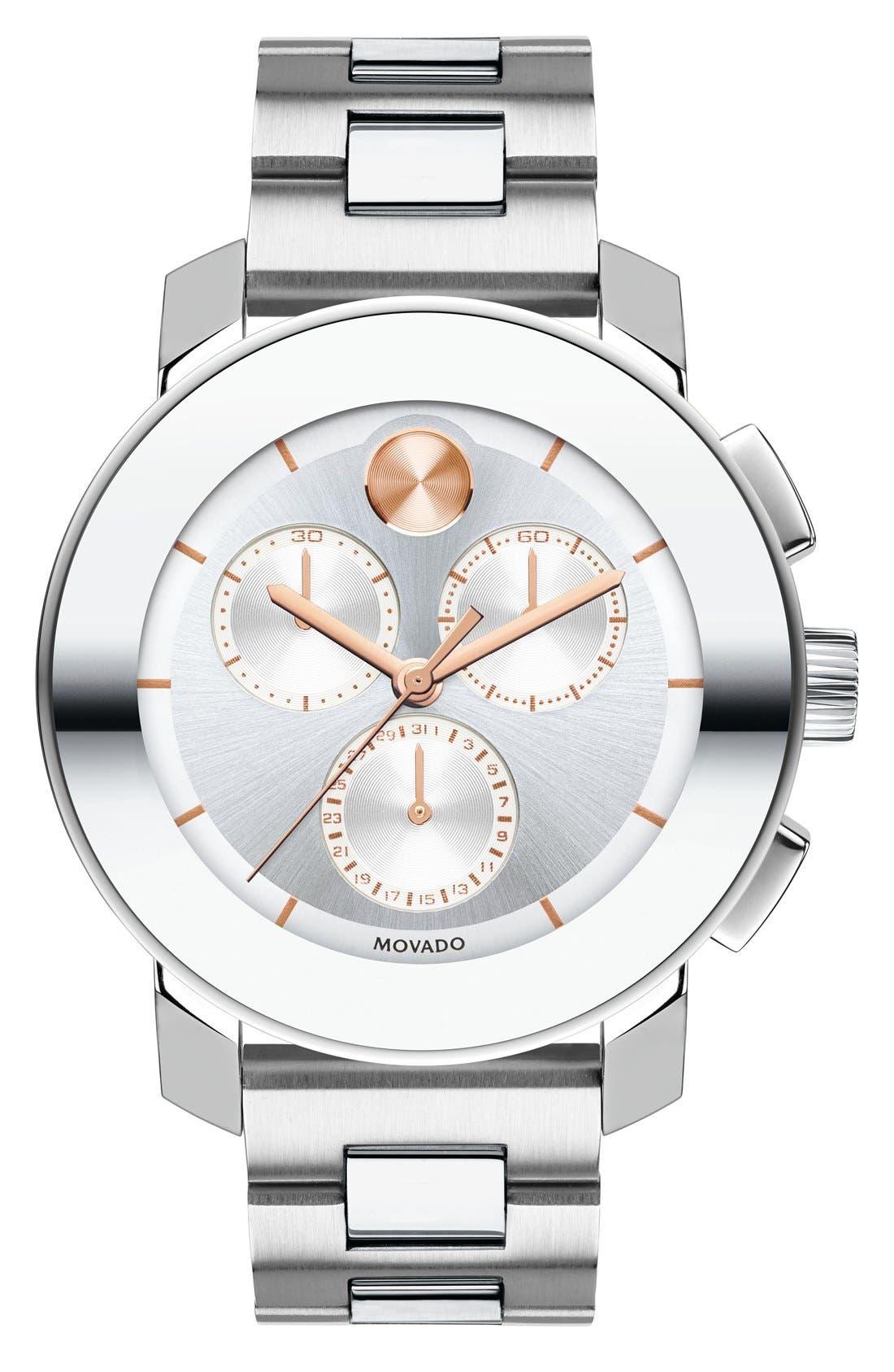 Alternate Image 1 Selected - Movado'Bold Chrono' Bracelet Watch, 38mm