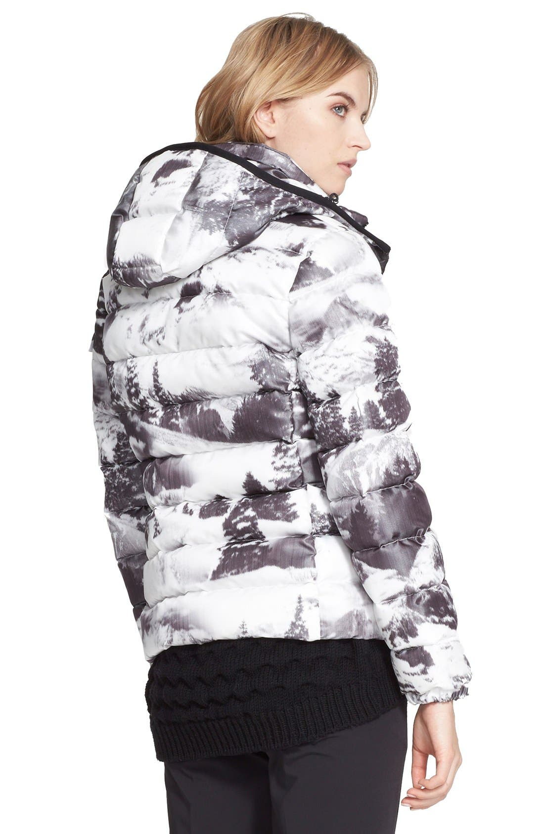 Alternate Image 2  - Moncler 'Abbadia' Forest Print Hooded Down Puffer Coat