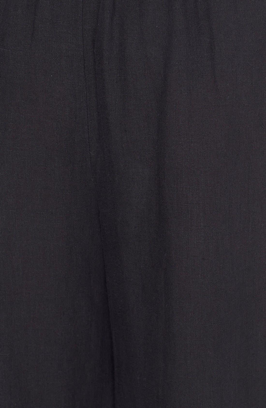 Alternate Image 3  - eskandarHandkerchief Linen Flare Crop Pants
