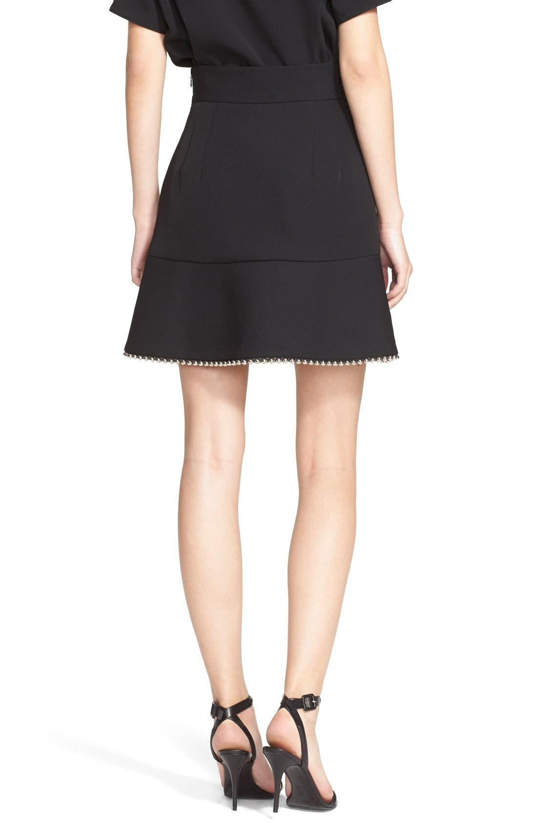 Alternate Image 2  - Alexander Wang Ball Chain Trim Miniskirt