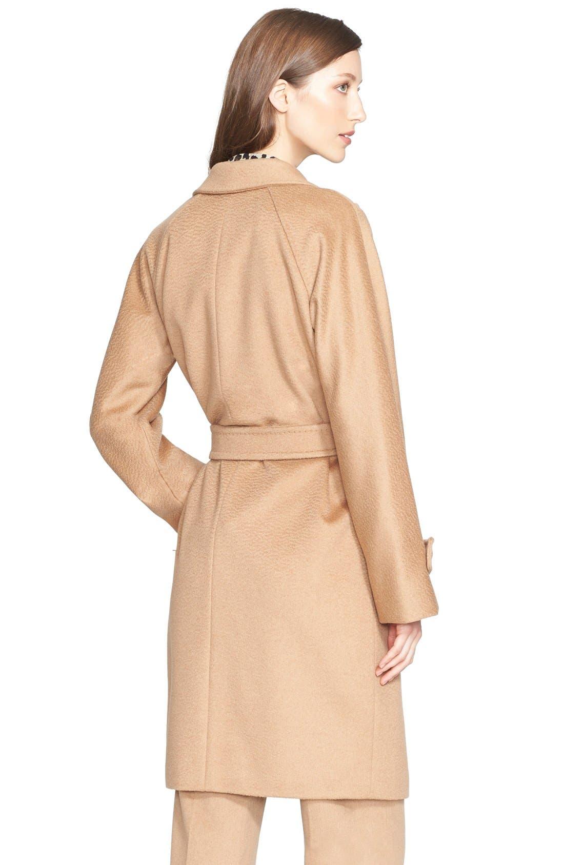 Alternate Image 2  - Max Mara 'Megaton' Camel Hair Wrap Coat