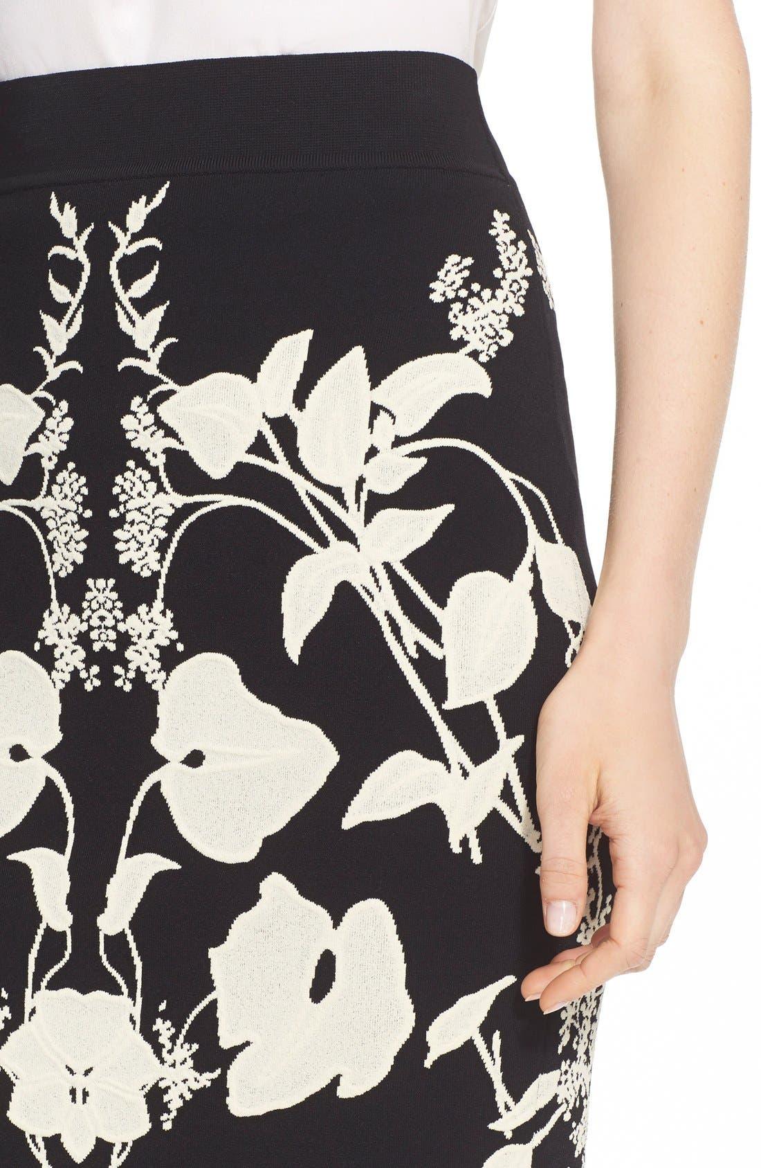 Alternate Image 5  - Alexander McQueen 'Belle Epoque' Floral Pattern Jacquard Pencil Skirt