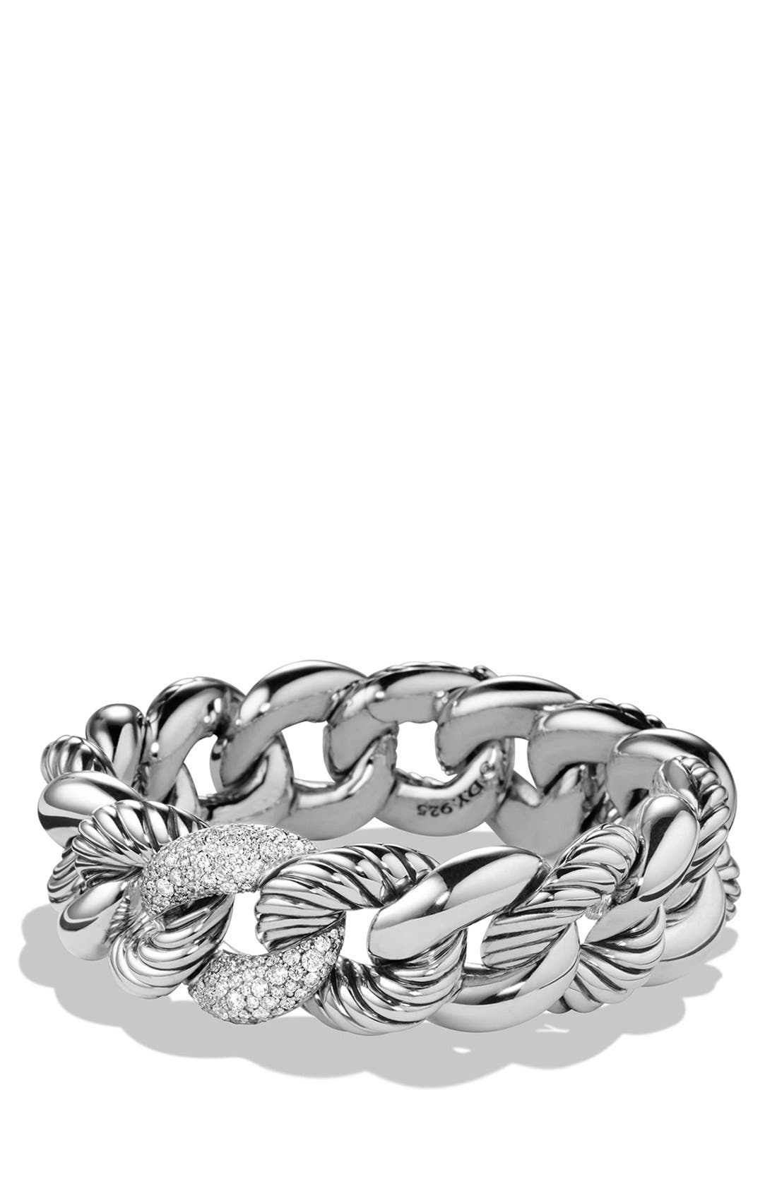 DAVID YURMAN 'Belmont' Curb Link Bracelet with Diamonds