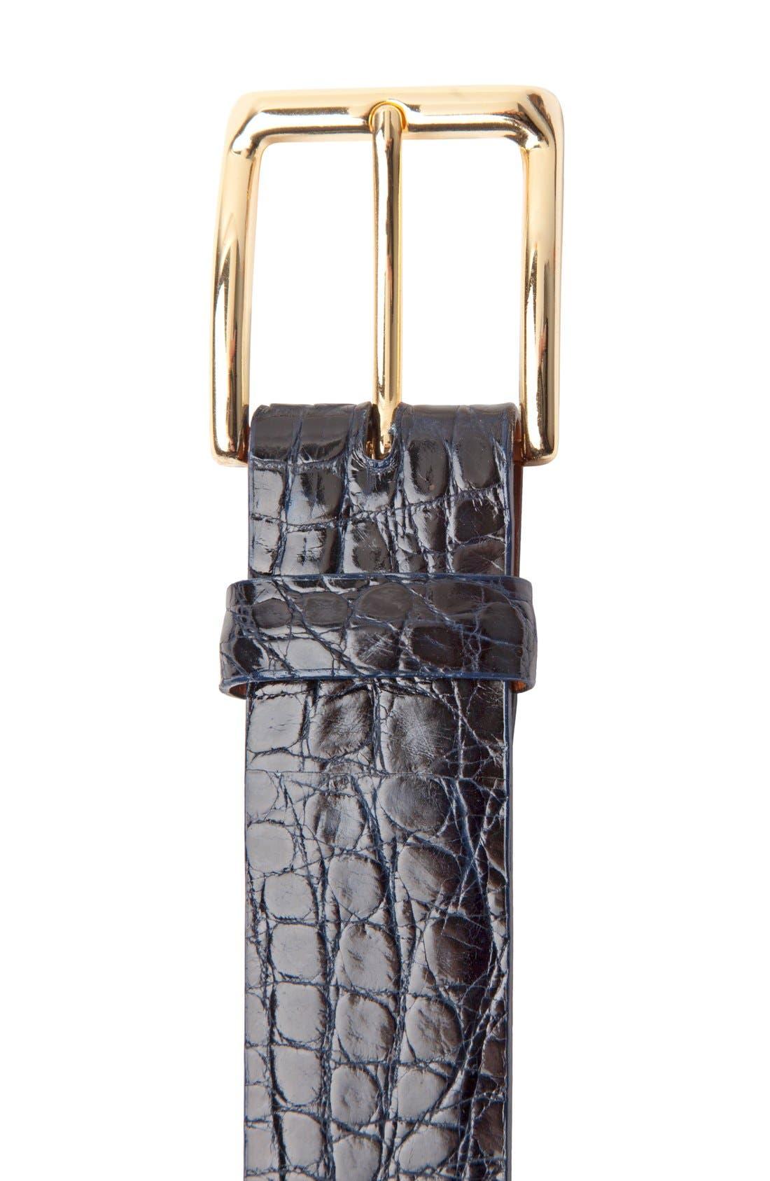 Alternate Image 2  - Trafalgar 'Newington' Genuine Crocodile Leather Belt