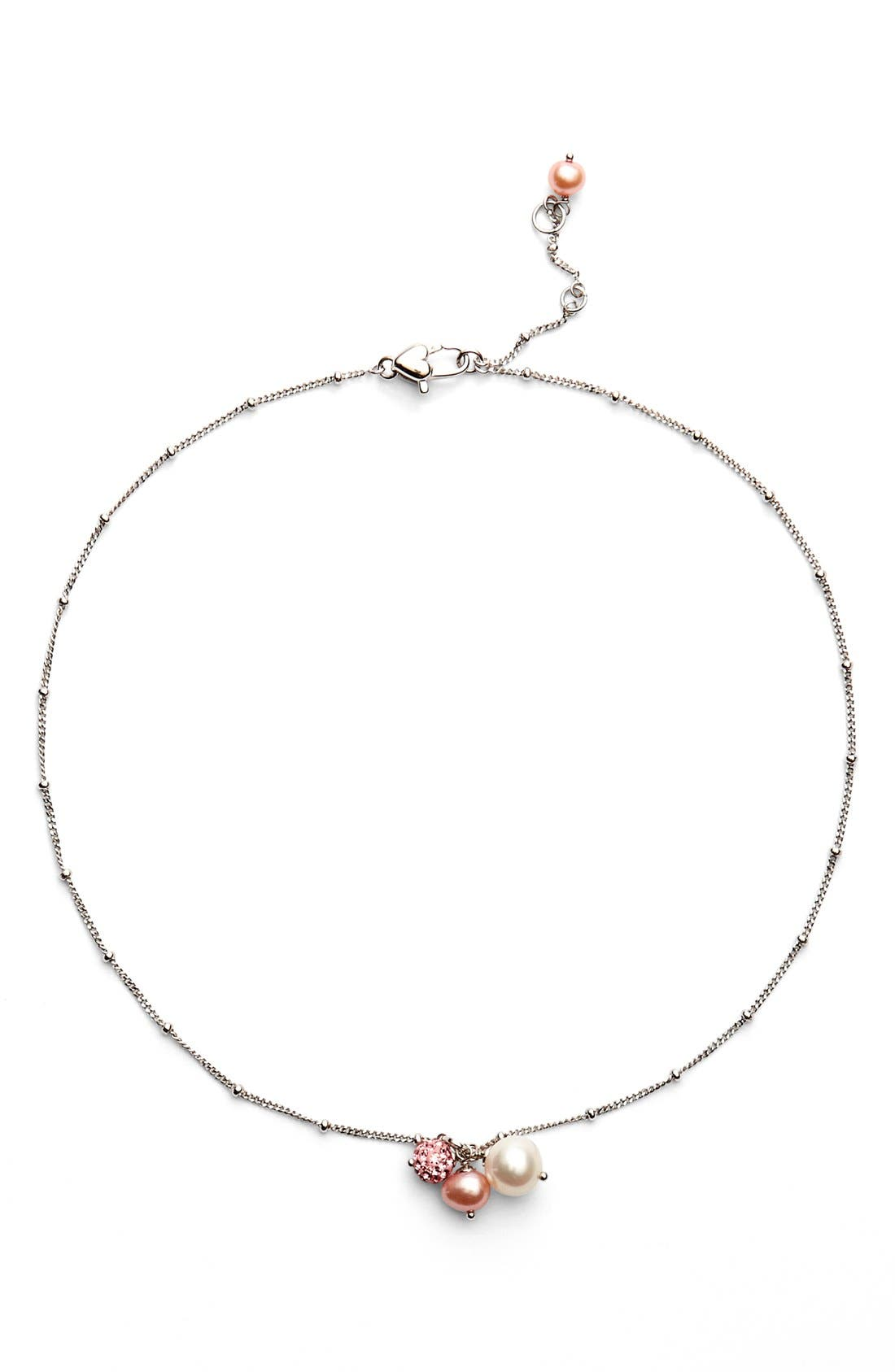 HONORAWhite Rose Pearl Necklace (Girls)