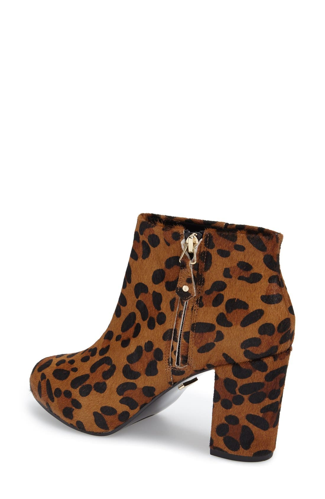 Alternate Image 2  - Topshop 'Miles Inside' Leopard Print Genuine Calf Hair Platform Bootie (Women)