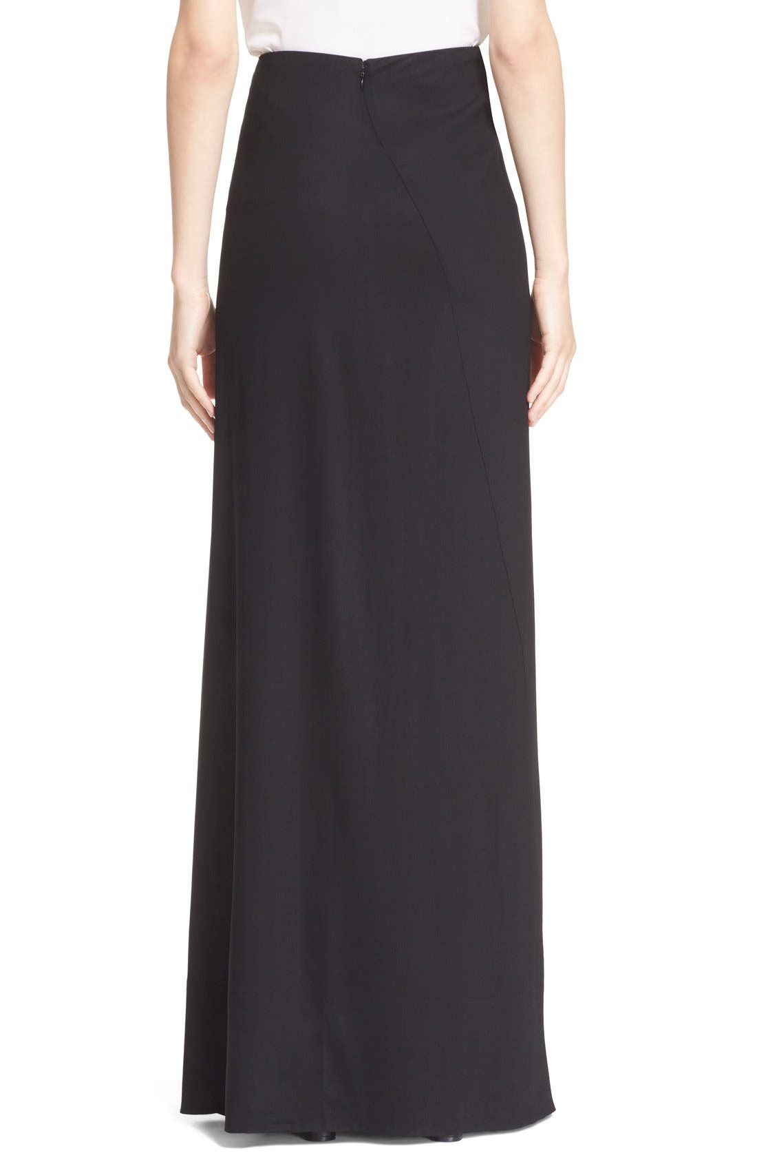 Alternate Image 2  - Donna Karan New York Crepe Flutter Maxi Skirt