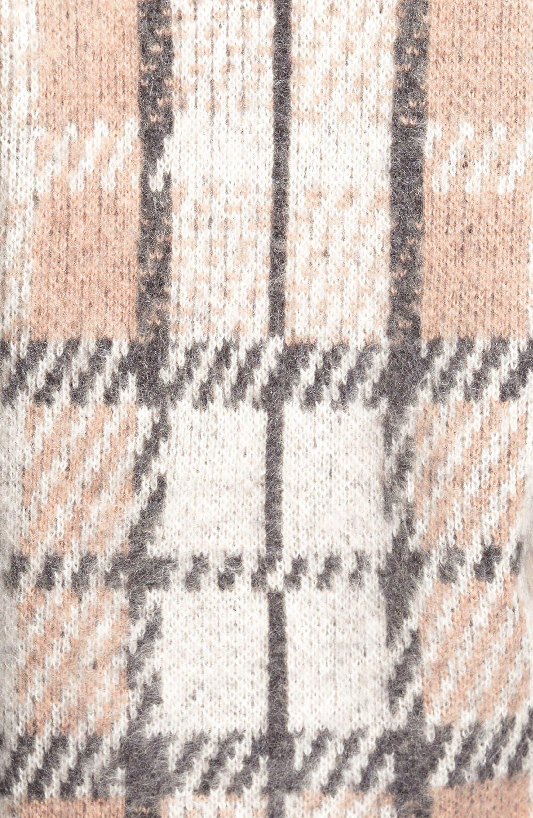 Alternate Image 4  - J.O.A. Plaid Crewneck Sweater