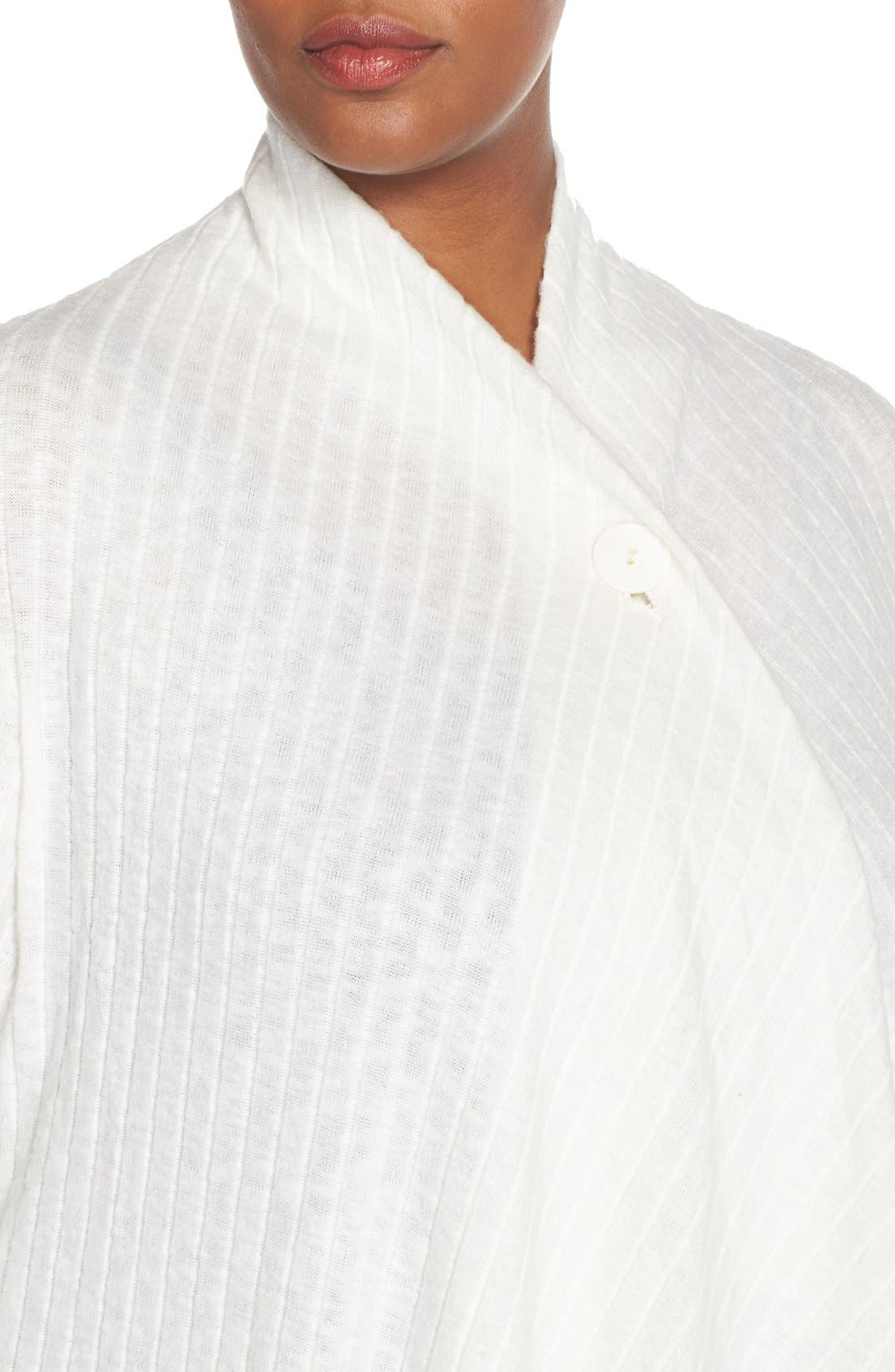 Alternate Image 4  - Bobeau Rib Knit One-Button Cardigan (Plus Size)