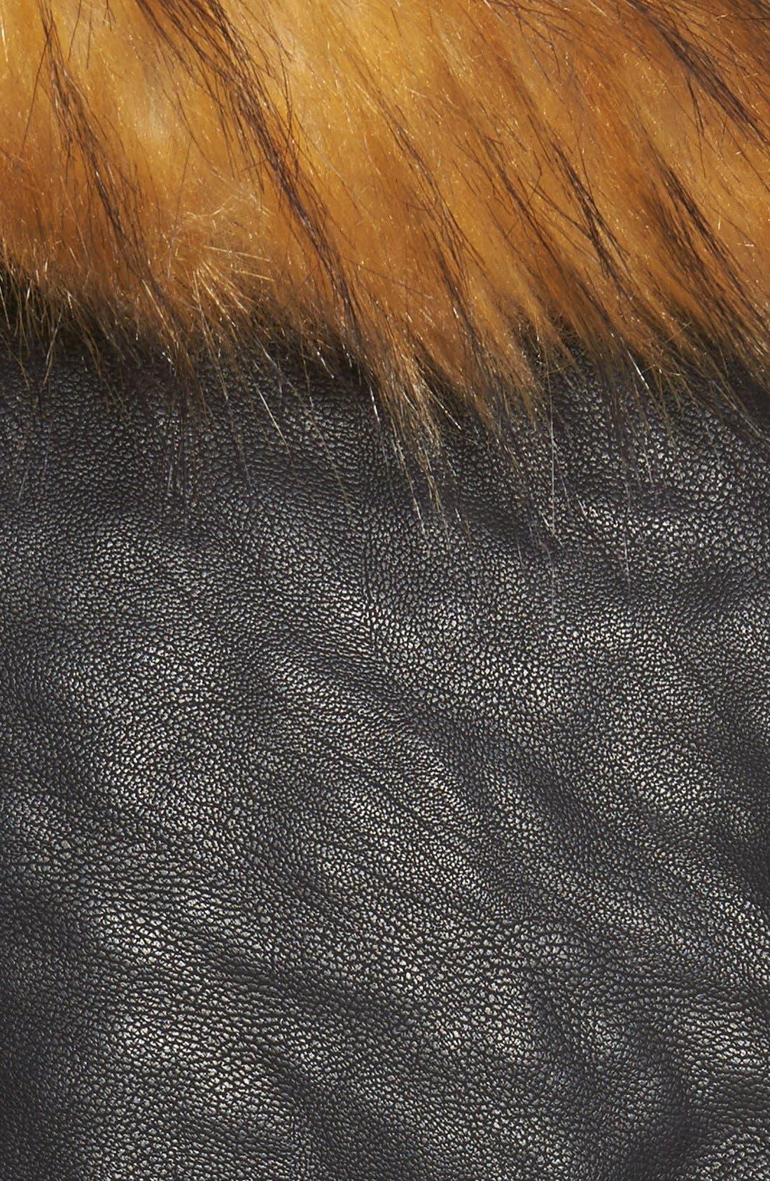 Alternate Image 5  - Marc New York 'Genna' Faux Fur Collar Faux Leather Moto Jacket