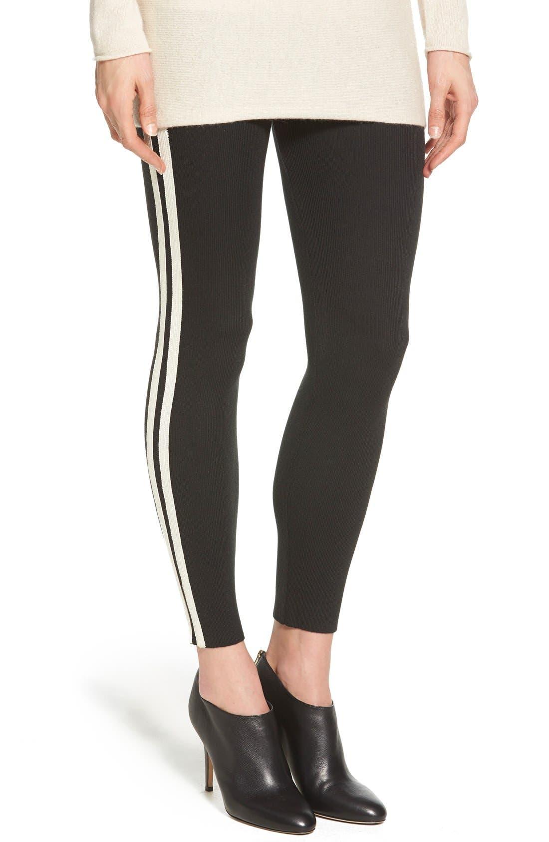 Alternate Image 1 Selected - Hue Racer Stripe Sweater Leggings