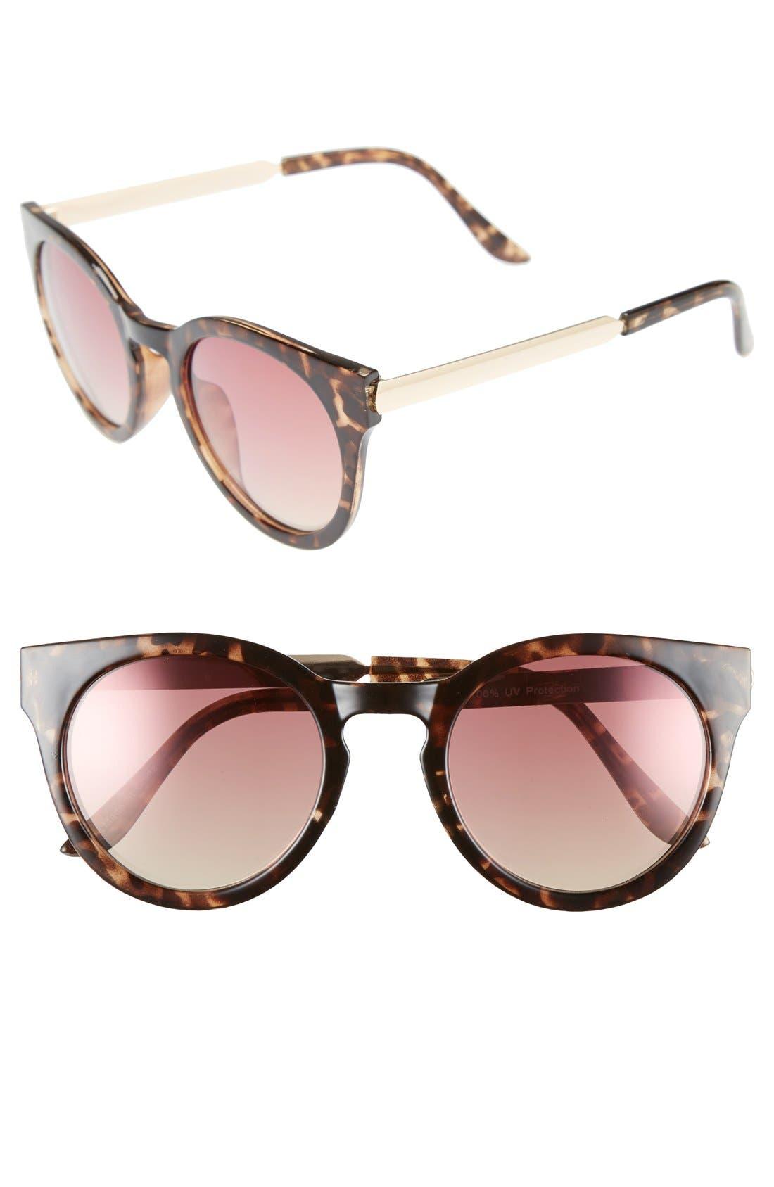 Main Image - BP. 55mm Mirrored Round Sunglasses