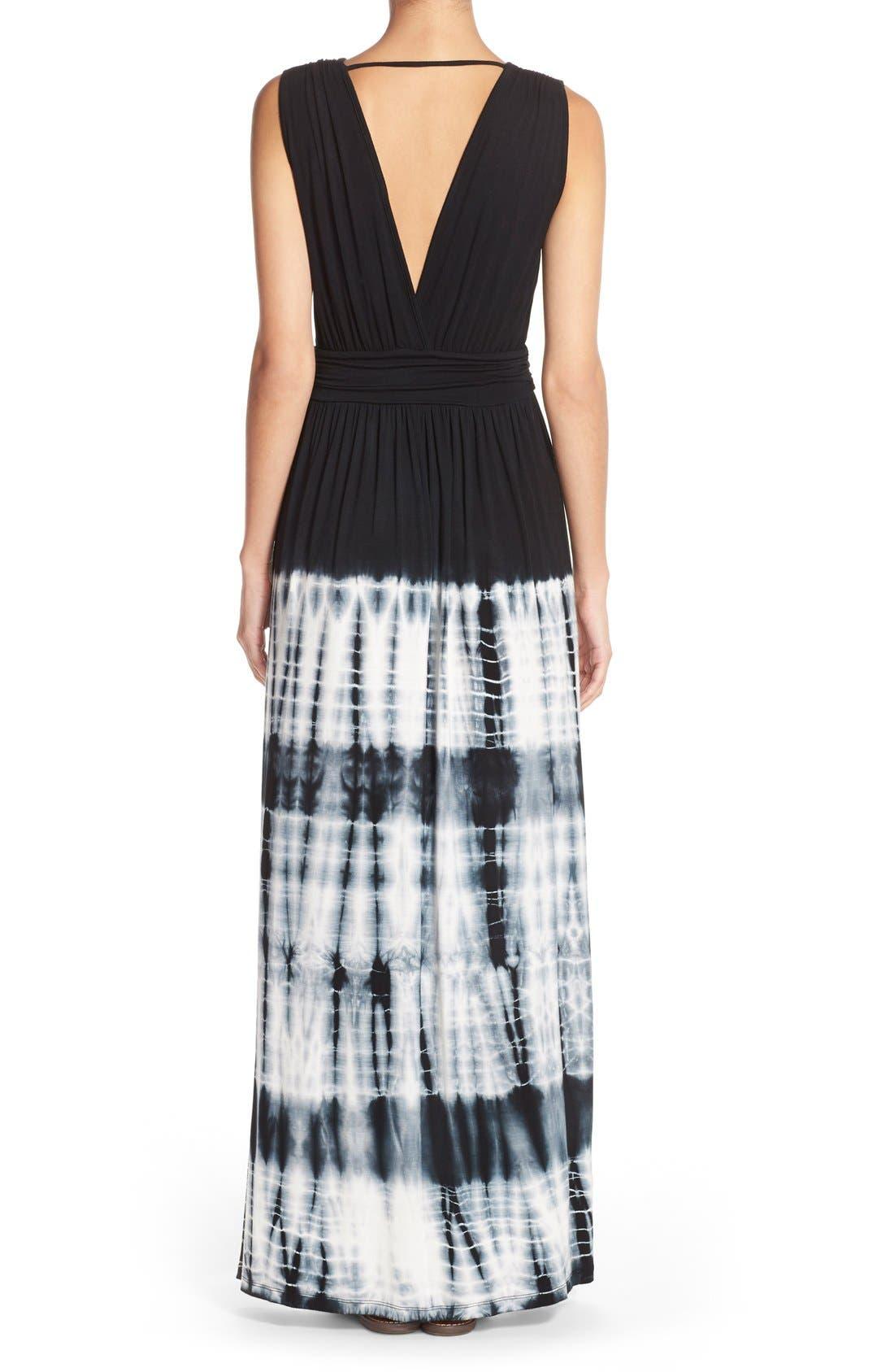 Alternate Image 2  - Fraiche by J Tie Dye Ombré Jersey Maxi Dress