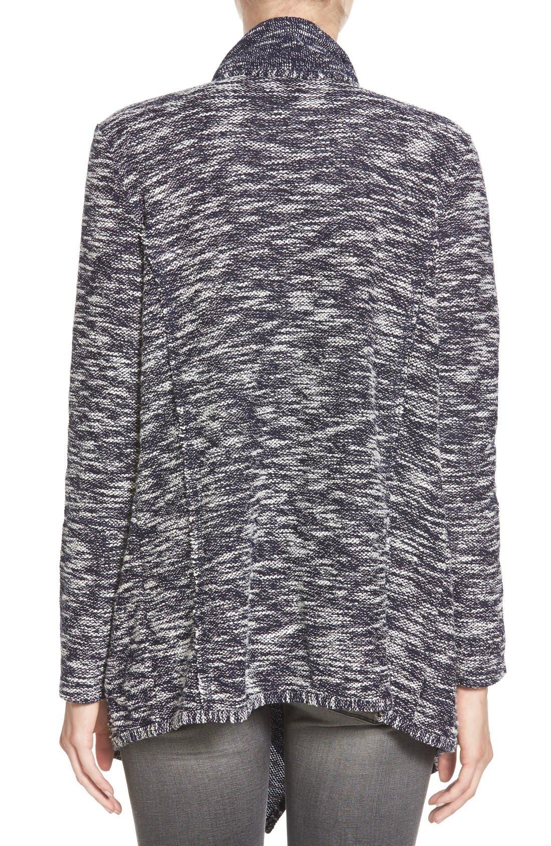 Alternate Image 2  - Caslon® Drape Front Cardigan (Regular & Petite)