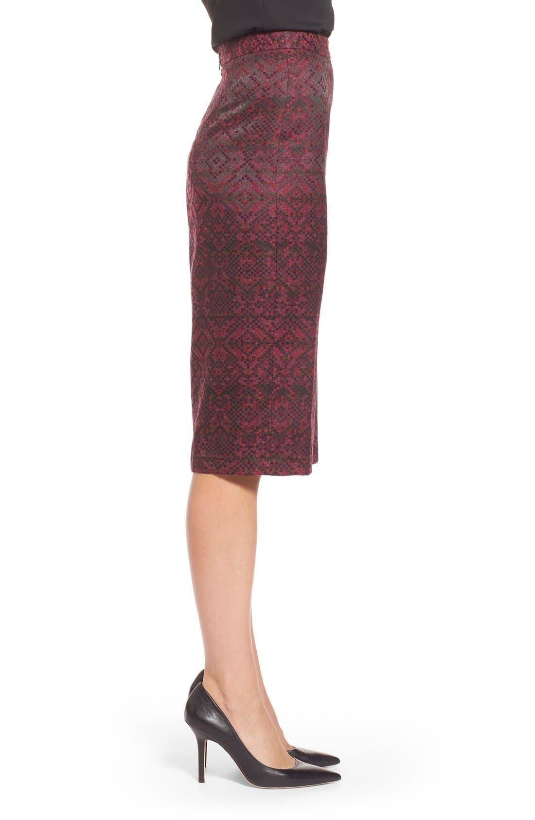 Alternate Image 3  - Halogen® Slit Front Pencil Skirt (Regular & Petite)