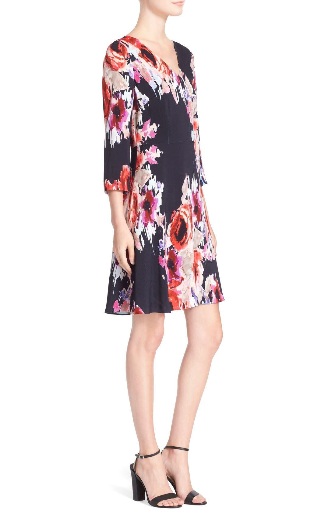 Alternate Image 3  - kate spade new york floral print v-neck dress