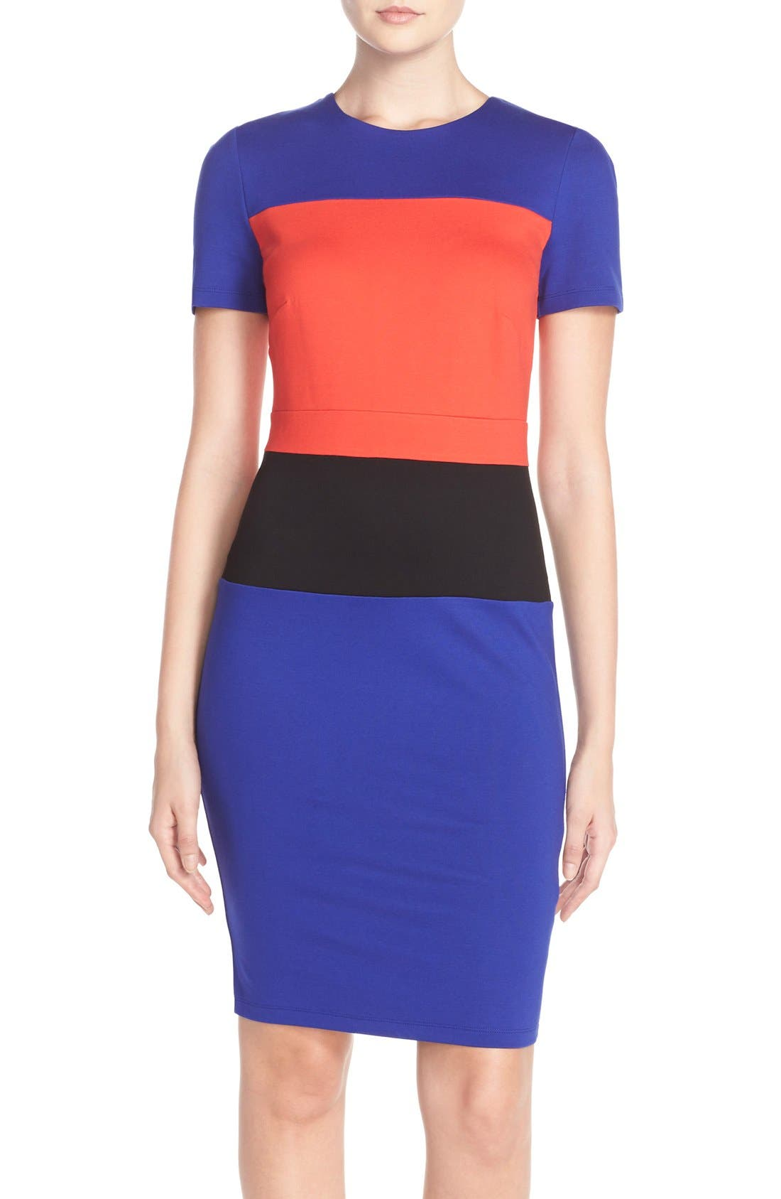 Alternate Image 1 Selected - French Connection ColorblockJersey Sheath Dress