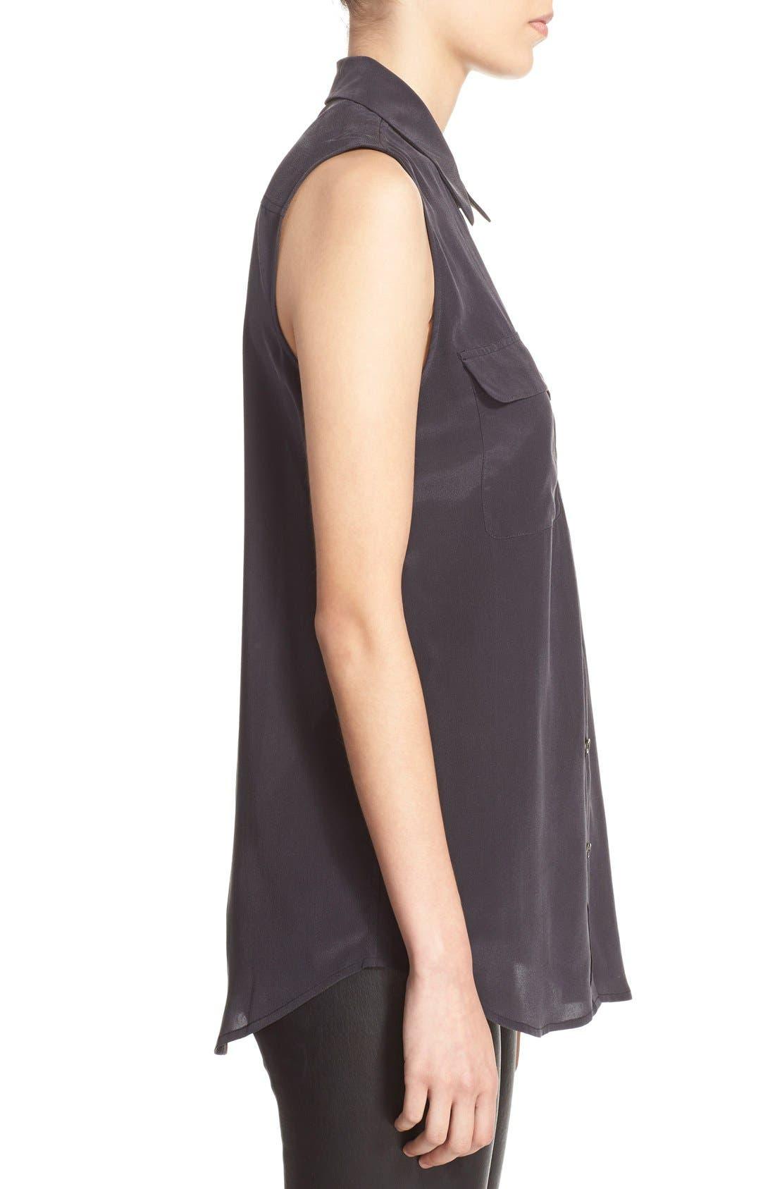 Alternate Image 3  - Equipment 'Slim Signature' Sleeveless Silk Shirt