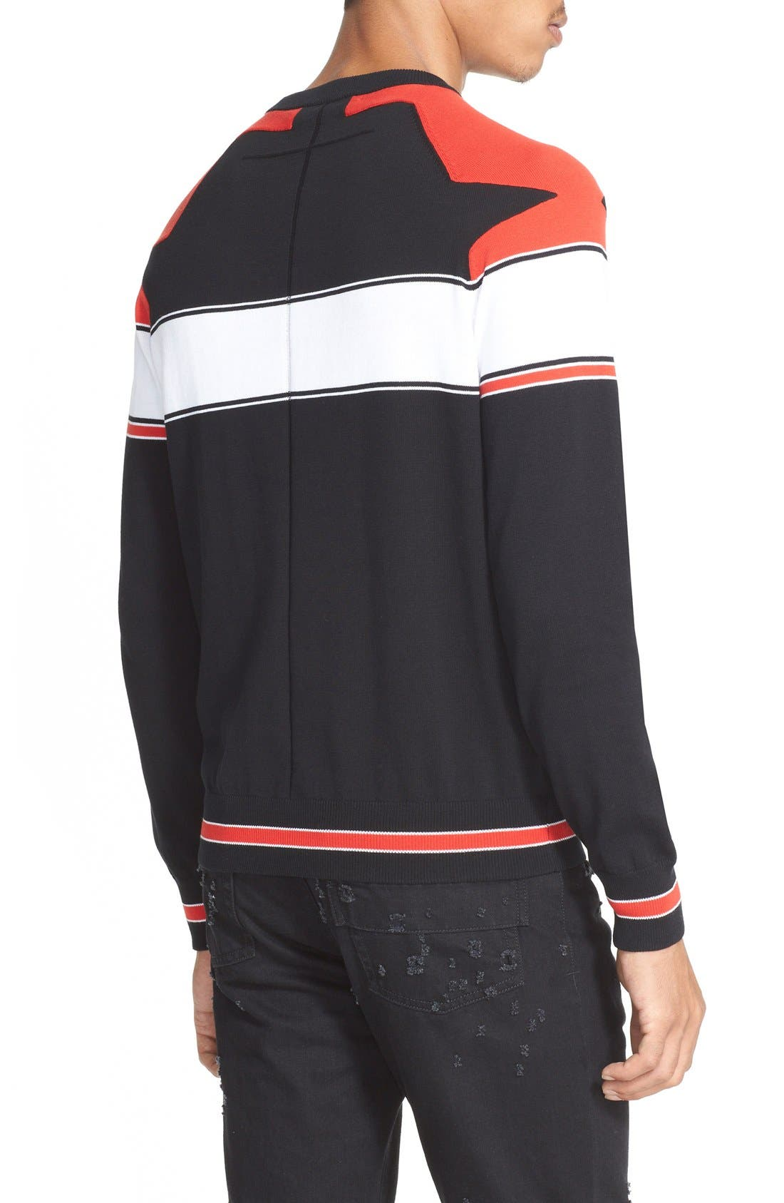 Alternate Image 2  - Givenchy Stripe Raglan Sleeve Sweater