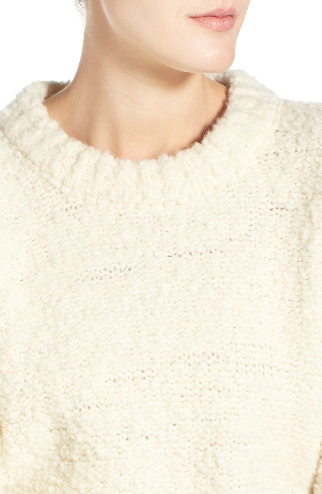 Alternate Image 4  - M.i.h. Jeans 'Bird' Bouclé Crewneck Sweater