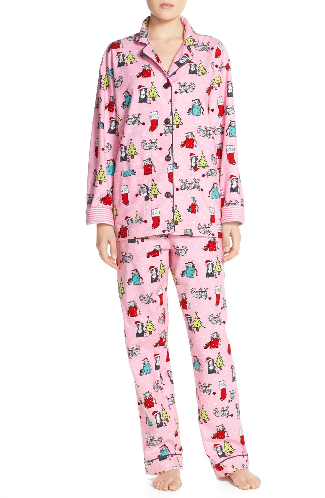 Main Image - PJ Salvage Print Flannel Pajamas