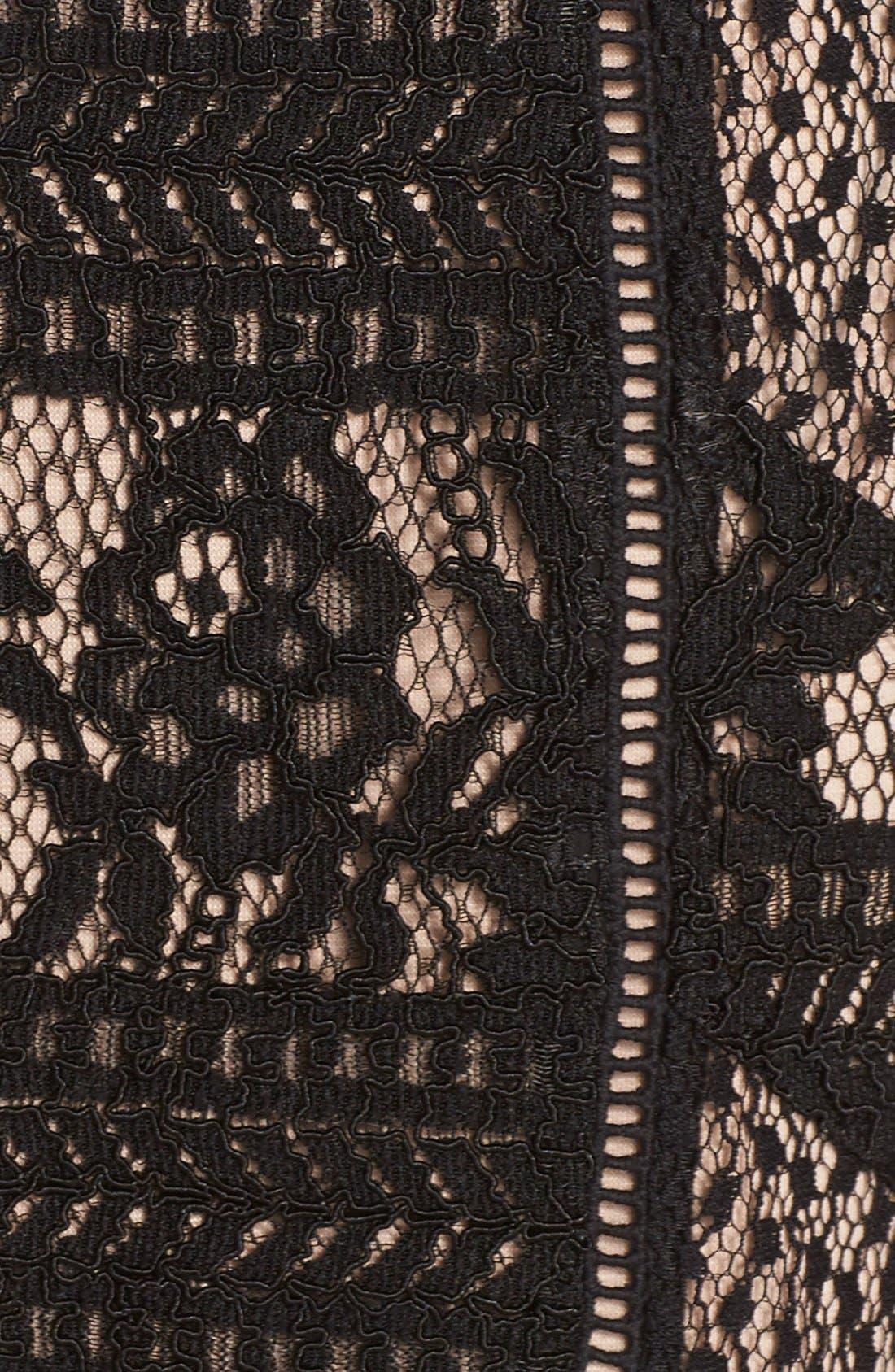 Alternate Image 5  - Adelyn Rae Lace Strapless Dress