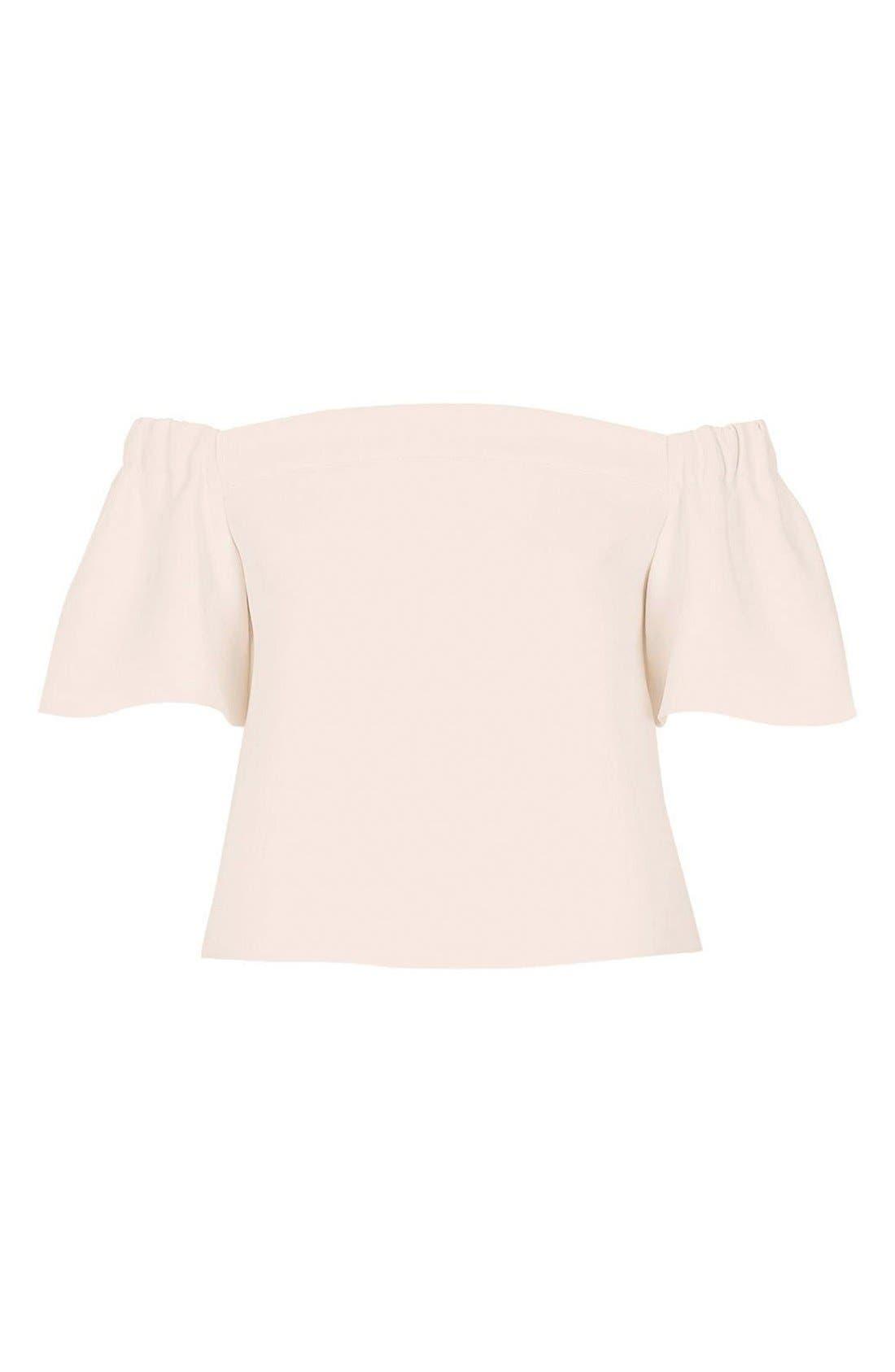 Alternate Image 4  - Topshop Structured Bardot Top (Petite)