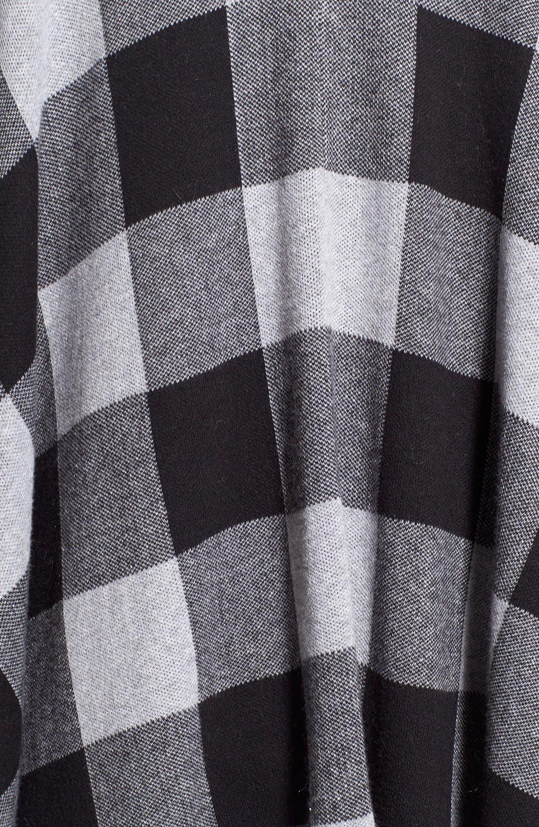 Alternate Image 5  - kensie Check Plaid Blanket Cardigan