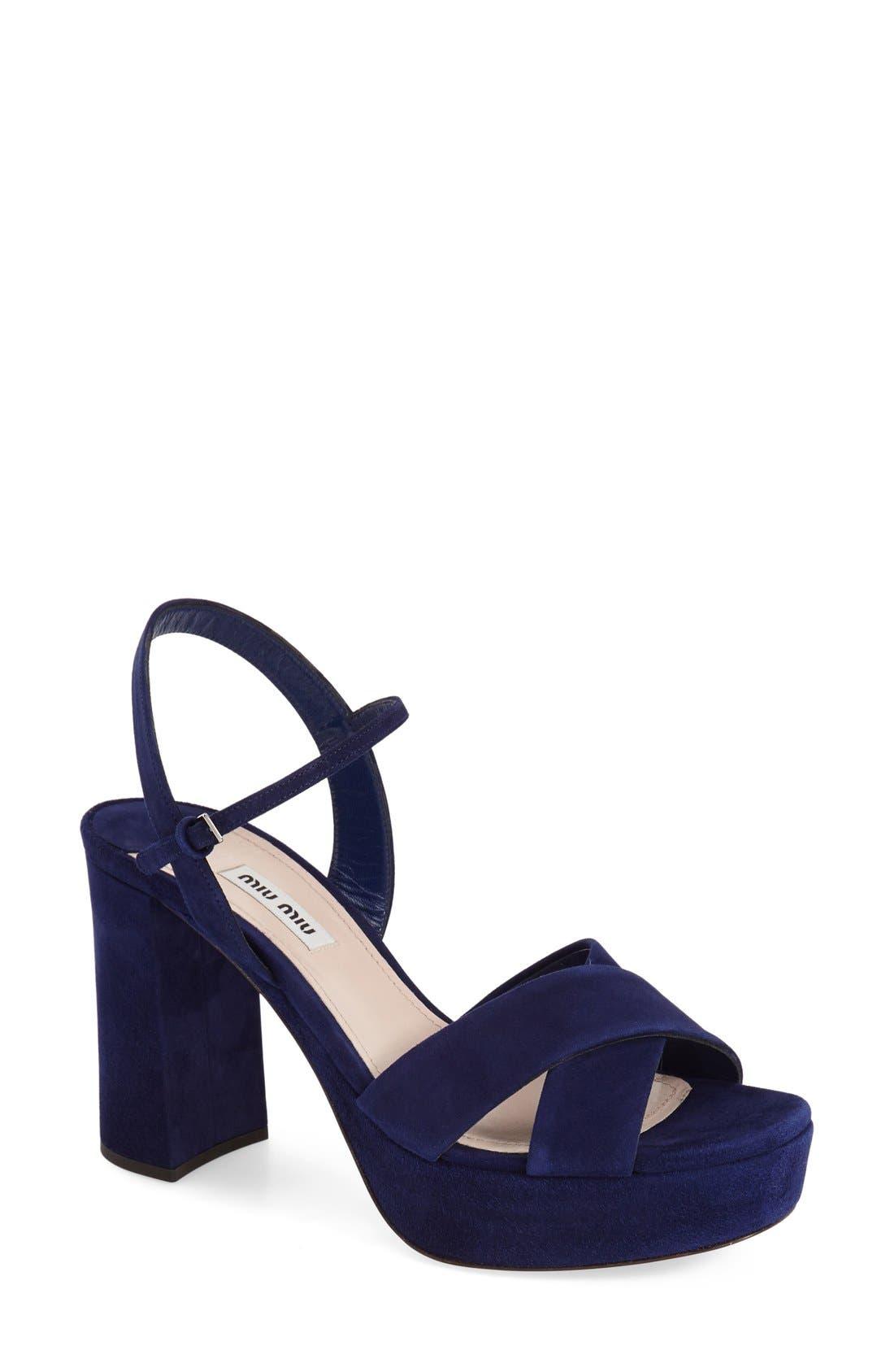 Alternate Image 1 Selected - Miu Miu Platform Sandal (Women)