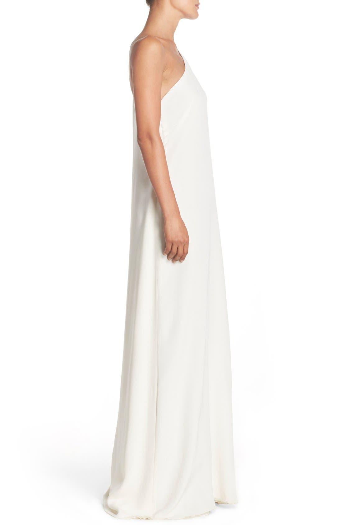 Alternate Image 3  - Jill Jill Stuart Cape Sleeve Crepe Gown