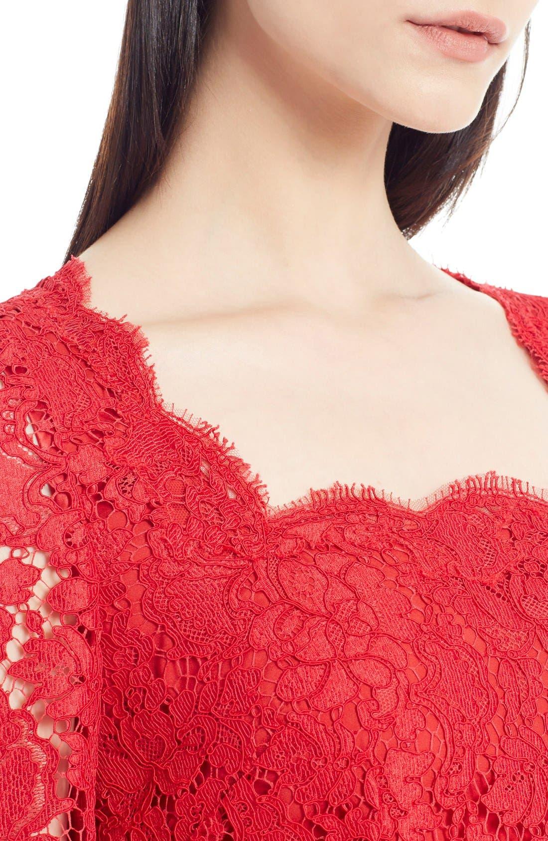 Alternate Image 5  - Dolce&Gabbana Square Neck Lace Dress