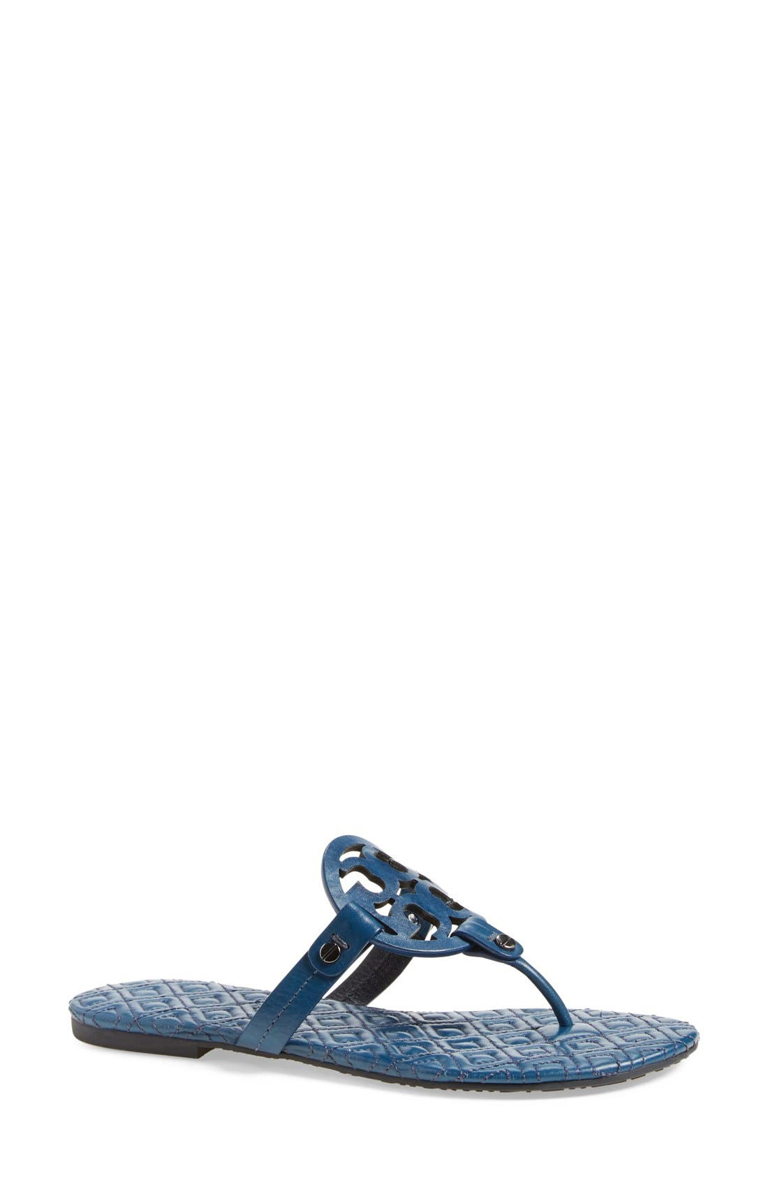 Alternate Image 1 Selected - Tory Burch 'Miller' Quilted Sandal (Women)