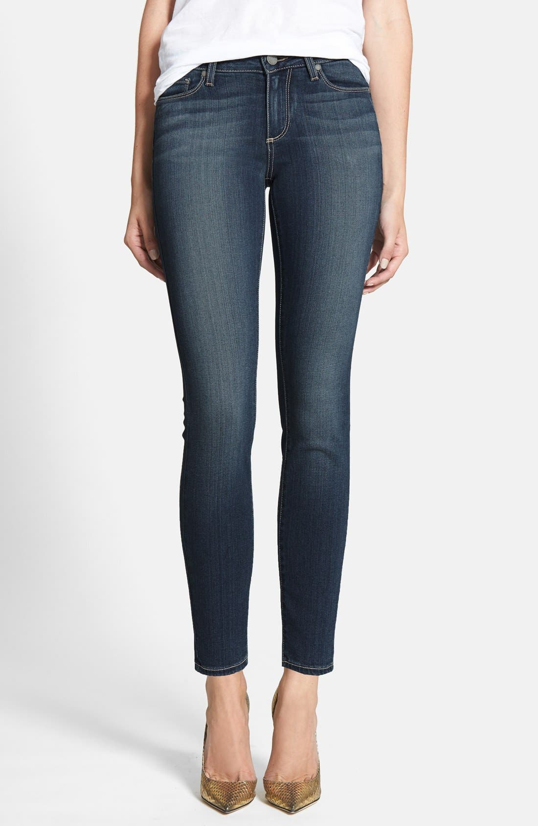 Main Image - PAIGE 'Transcend - Verdugo' Ankle Skinny Jeans (Easton)