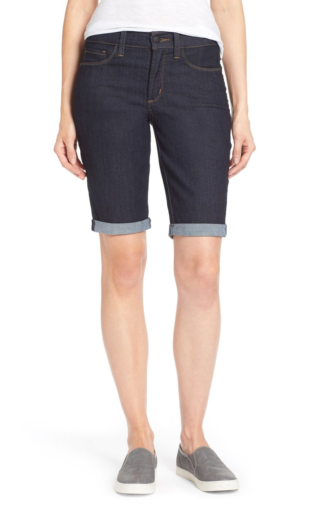 Alternate Image 1 Selected - NYDJ 'Briella' Stretch Roll Cuff Denim Shorts (Regular & Petite)
