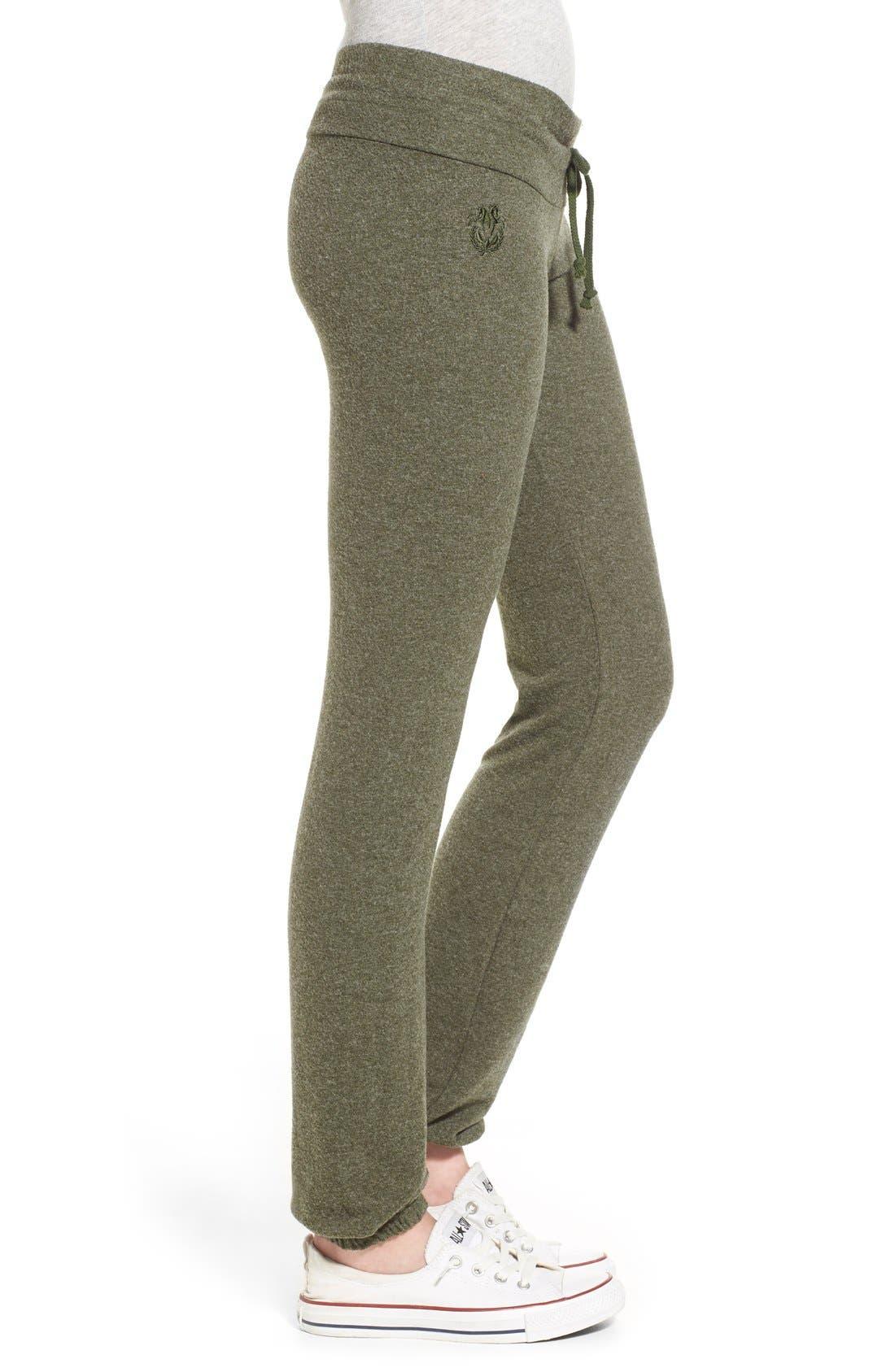Alternate Image 3  - Wildfox 'Basics - Malibu' Skinny Jogging Pants
